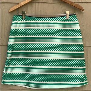 Vineyard Vines | Green Striped Golf Skirt | 6